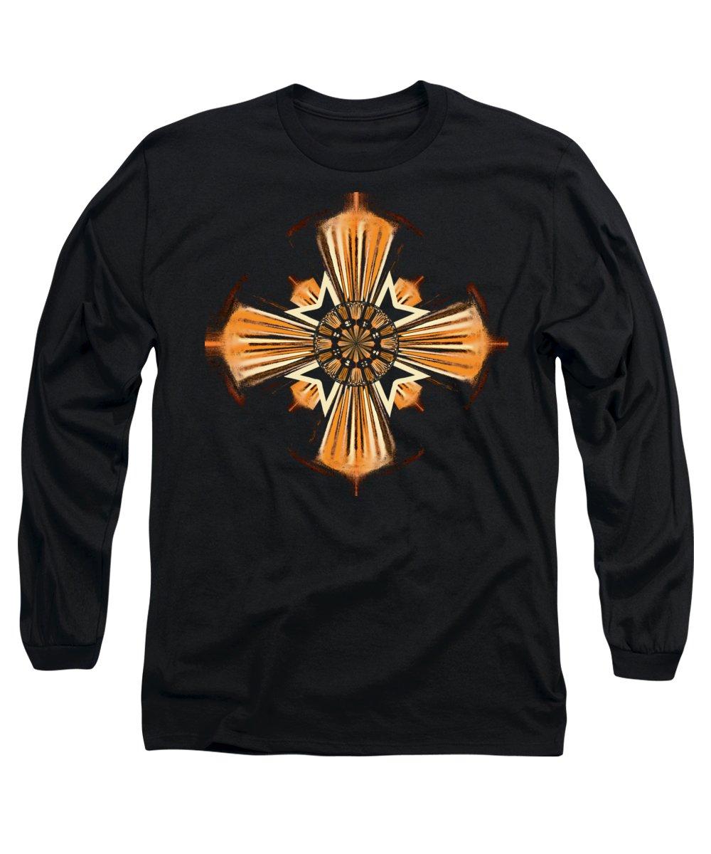 Cross Long Sleeve T-Shirt featuring the digital art Cross by Gaspar Avila