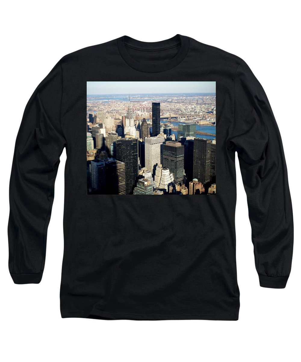 Crystler Building Long Sleeve T-Shirt featuring the photograph Crystler Building 2 by Anita Burgermeister