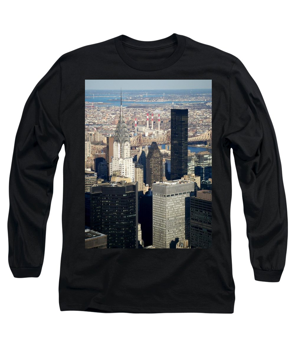 Crystler Building Long Sleeve T-Shirt featuring the photograph Crystler Building by Anita Burgermeister