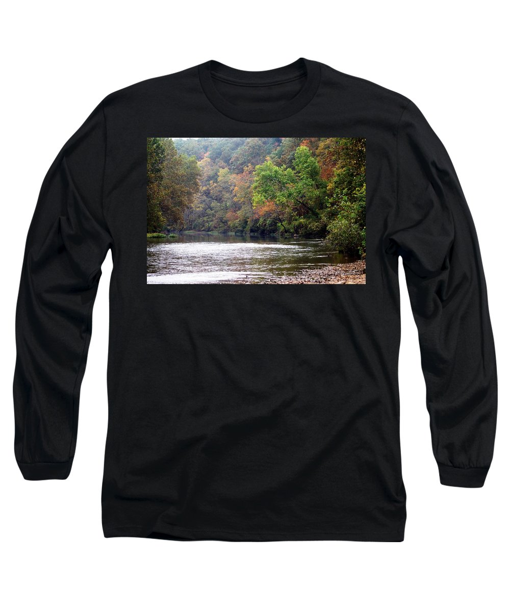 Current River Long Sleeve T-Shirt featuring the photograph Current River Fall by Marty Koch