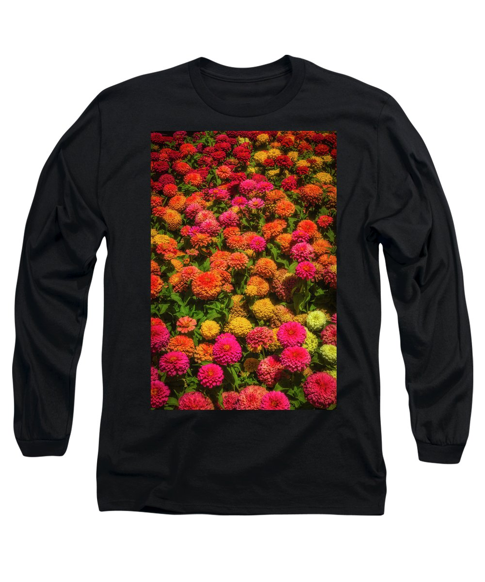 Mood Long Sleeve T-Shirt featuring the photograph Dahlia Garden by Garry Gay