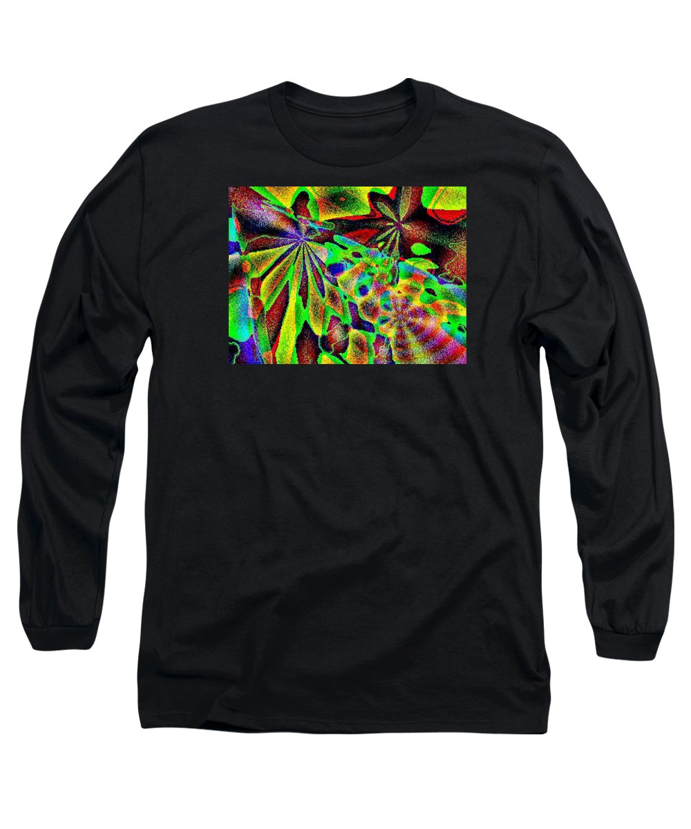 Computer Art Long Sleeve T-Shirt featuring the digital art Damselwing by Dave Martsolf