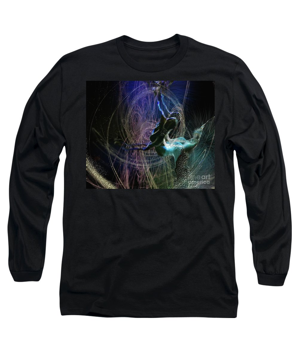Nature Painting Long Sleeve T-Shirt featuring the painting Dance Of The Universe by Miki De Goodaboom