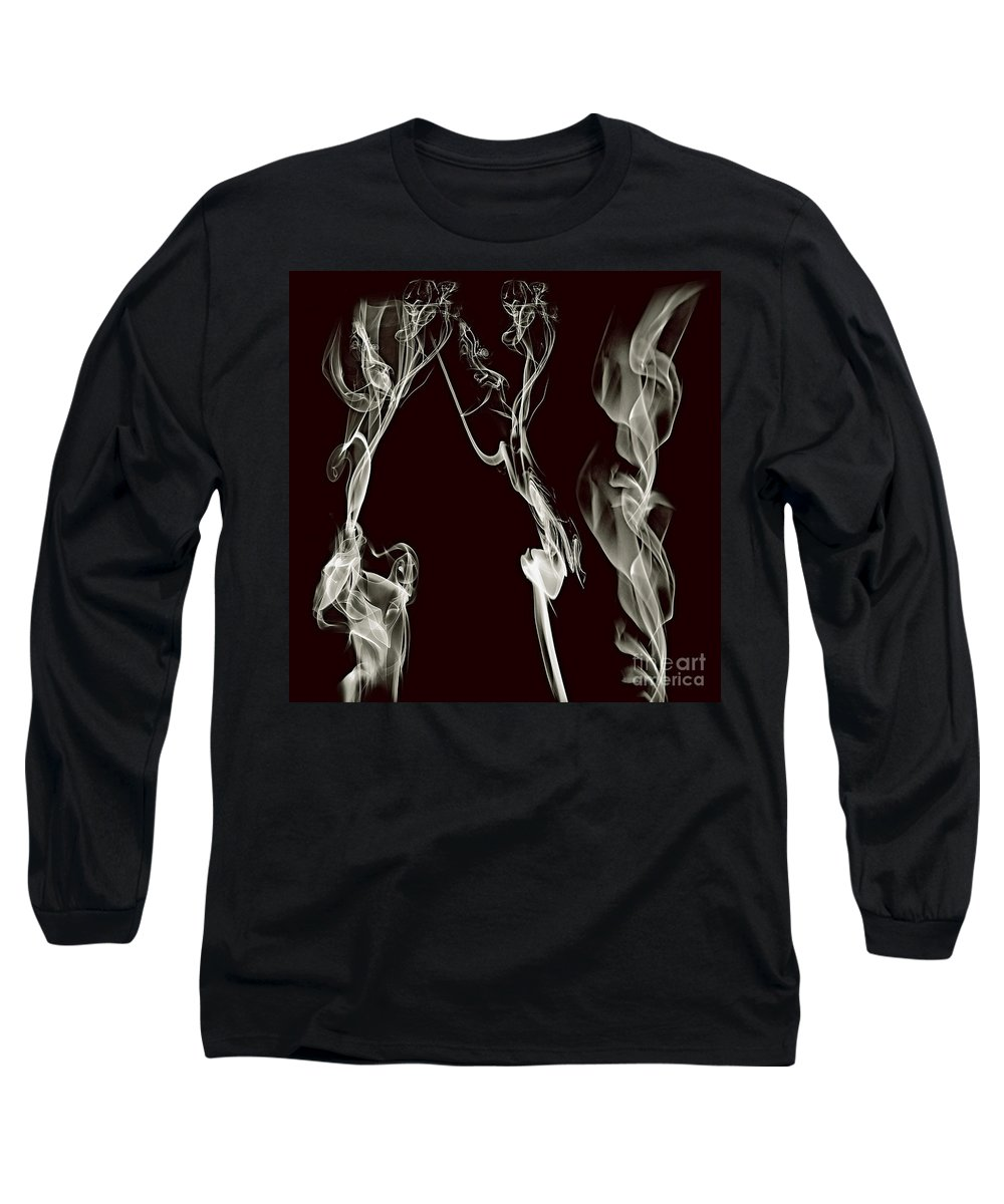 Clay Long Sleeve T-Shirt featuring the digital art Dancing Apparitions by Clayton Bruster