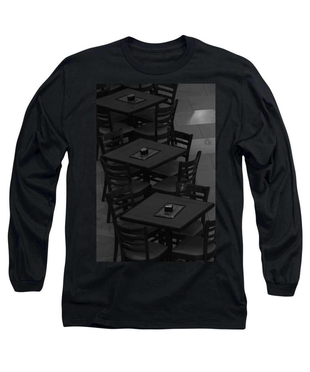 Tables Long Sleeve T-Shirt featuring the photograph Dark Tables by Rob Hans