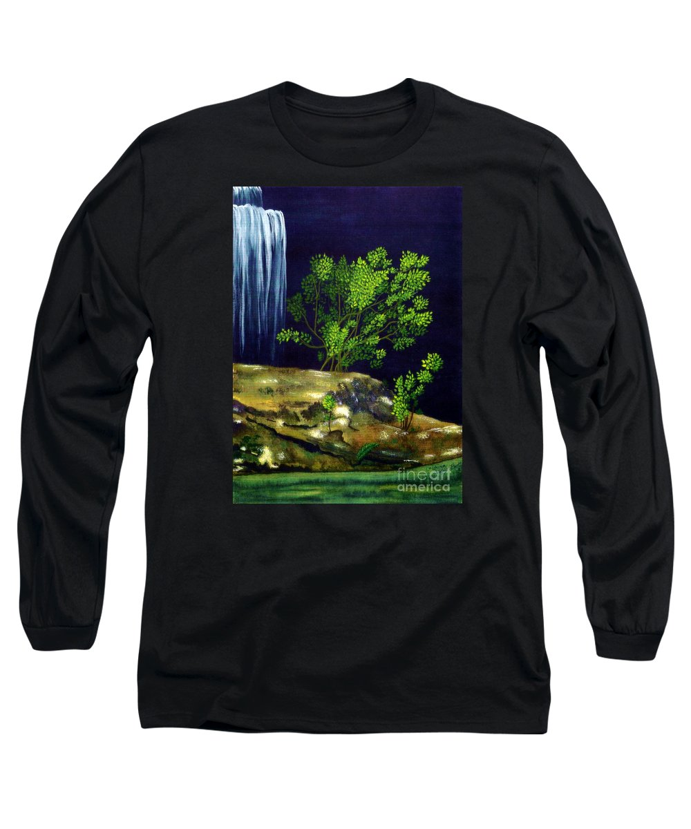 Fine Art Long Sleeve T-Shirt featuring the painting Dark Waters by Patricia Griffin Brett