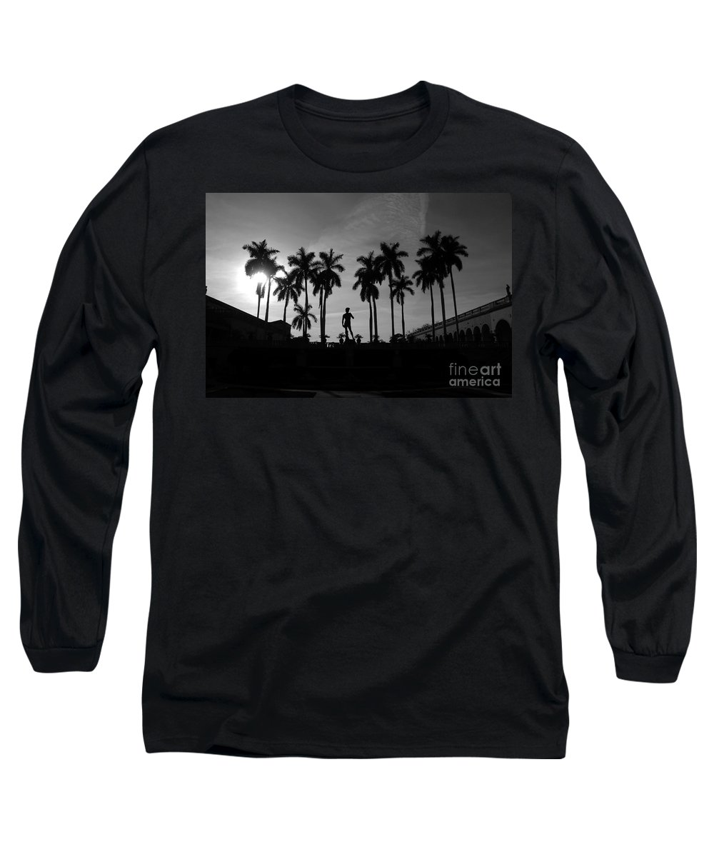 David Long Sleeve T-Shirt featuring the photograph David With Palms by David Lee Thompson