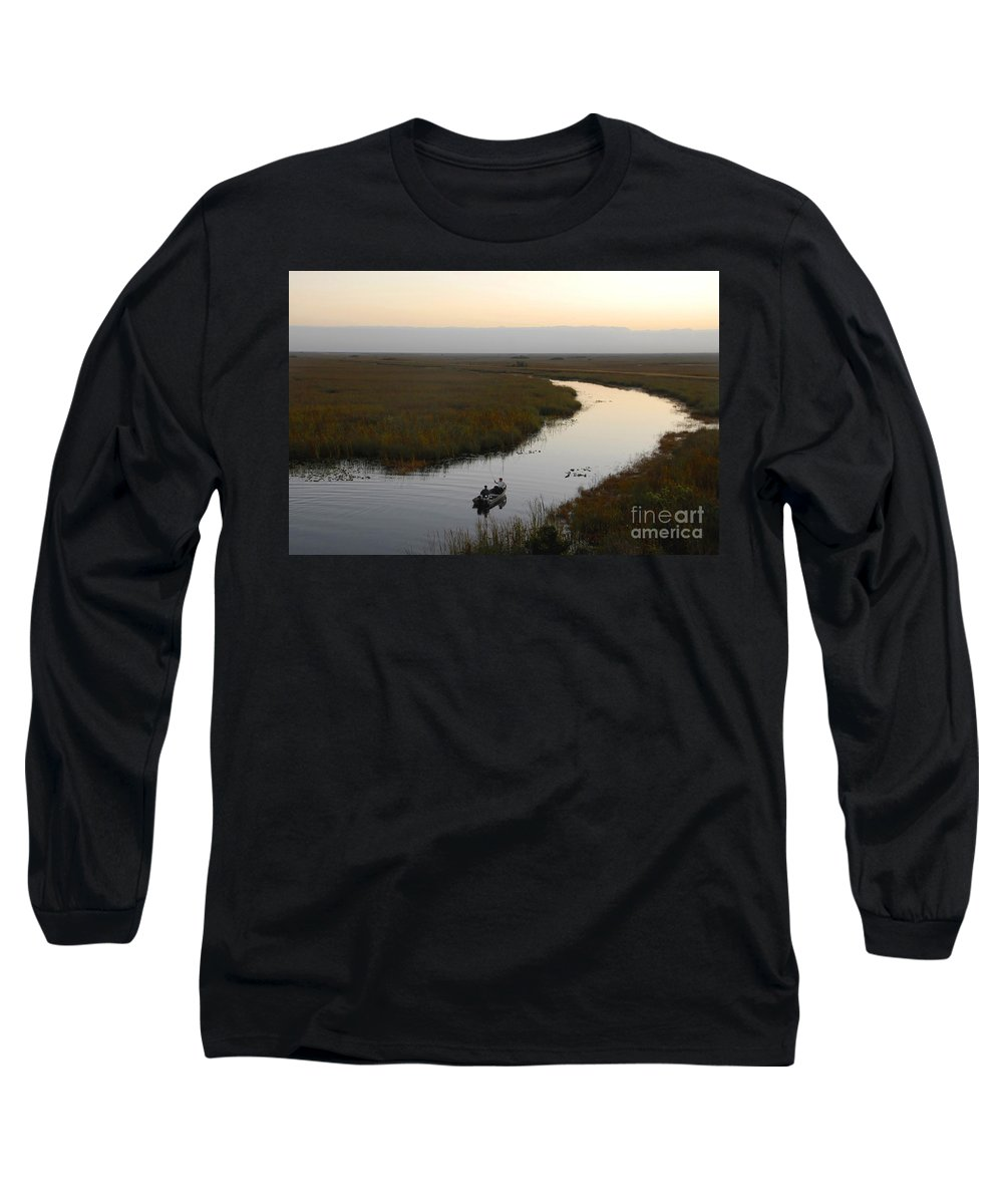 Fishing Long Sleeve T-Shirt featuring the photograph Dawn Everglades Florida by David Lee Thompson