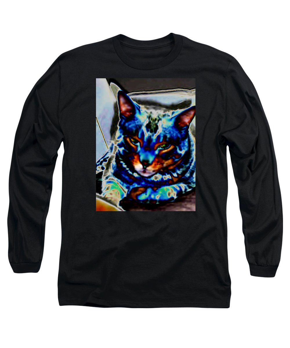 Cat Long Sleeve T-Shirt featuring the photograph Day Dreamer by Dawn Johansen