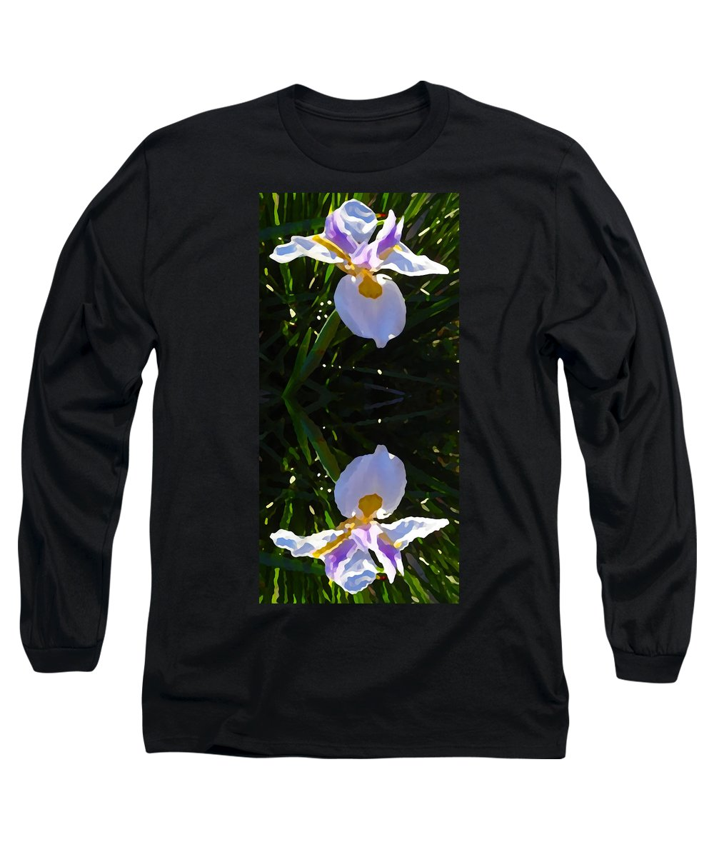 Daylily Long Sleeve T-Shirt featuring the painting Day Lily Reflection by Amy Vangsgard