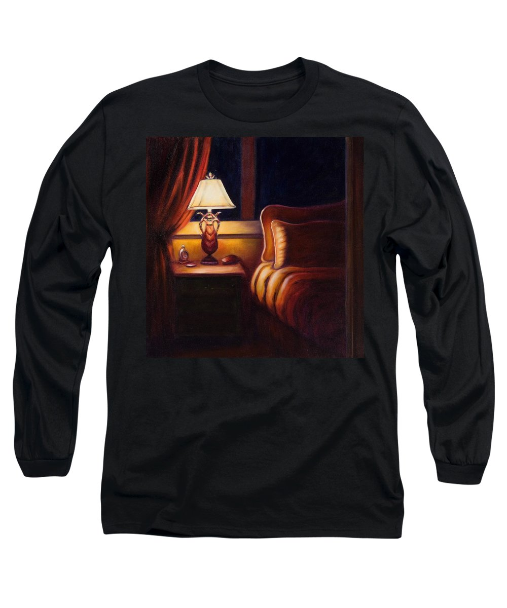 Still Life Long Sleeve T-Shirt featuring the painting Days End by Shannon Grissom