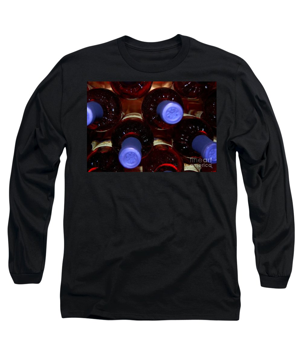 Wine Long Sleeve T-Shirt featuring the photograph De-vine Wine by Debbi Granruth