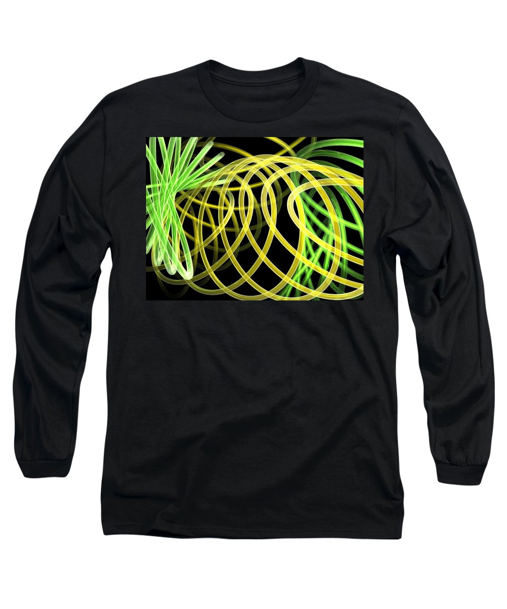 Green Long Sleeve T-Shirt featuring the digital art Deep Trance by Scott Piers