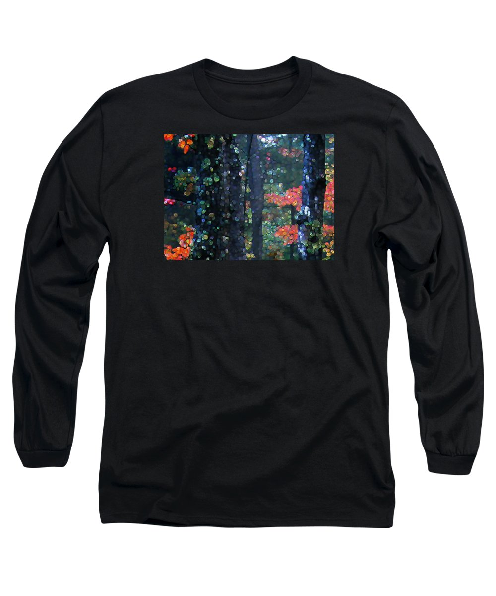 Landscape Long Sleeve T-Shirt featuring the digital art Deep Woods Mystery by Dave Martsolf