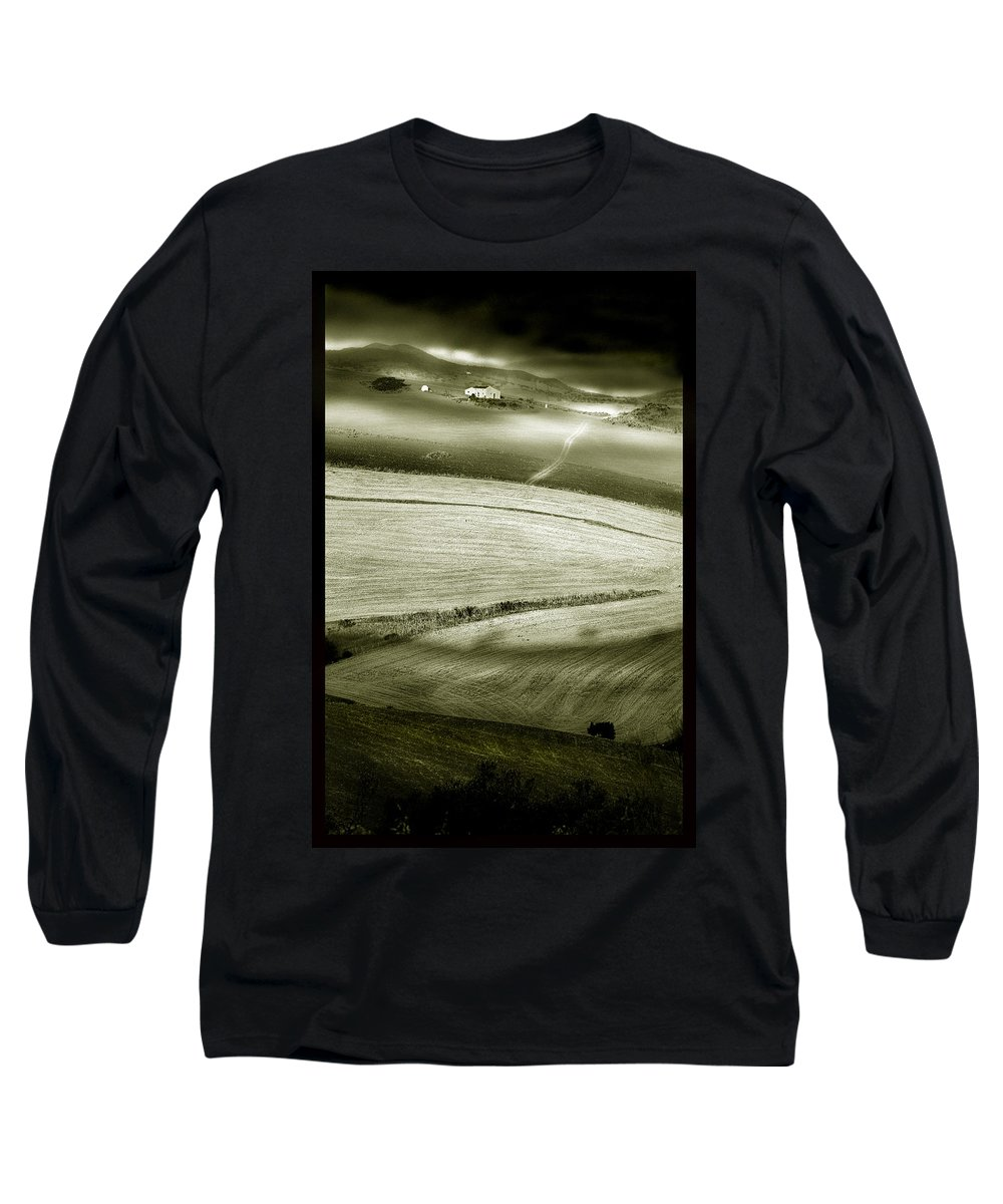 Landscape Long Sleeve T-Shirt featuring the photograph Deepening Shadows by Mal Bray