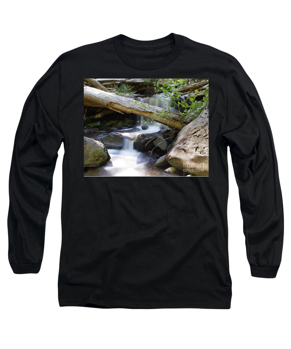 Creek Long Sleeve T-Shirt featuring the photograph Deer Creek 03 by Peter Piatt