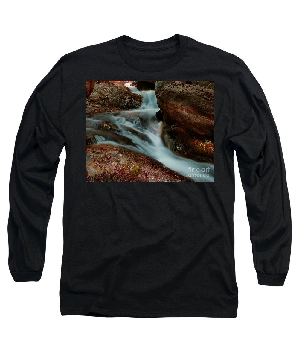 Creek Long Sleeve T-Shirt featuring the photograph Deer Creek 04 by Peter Piatt