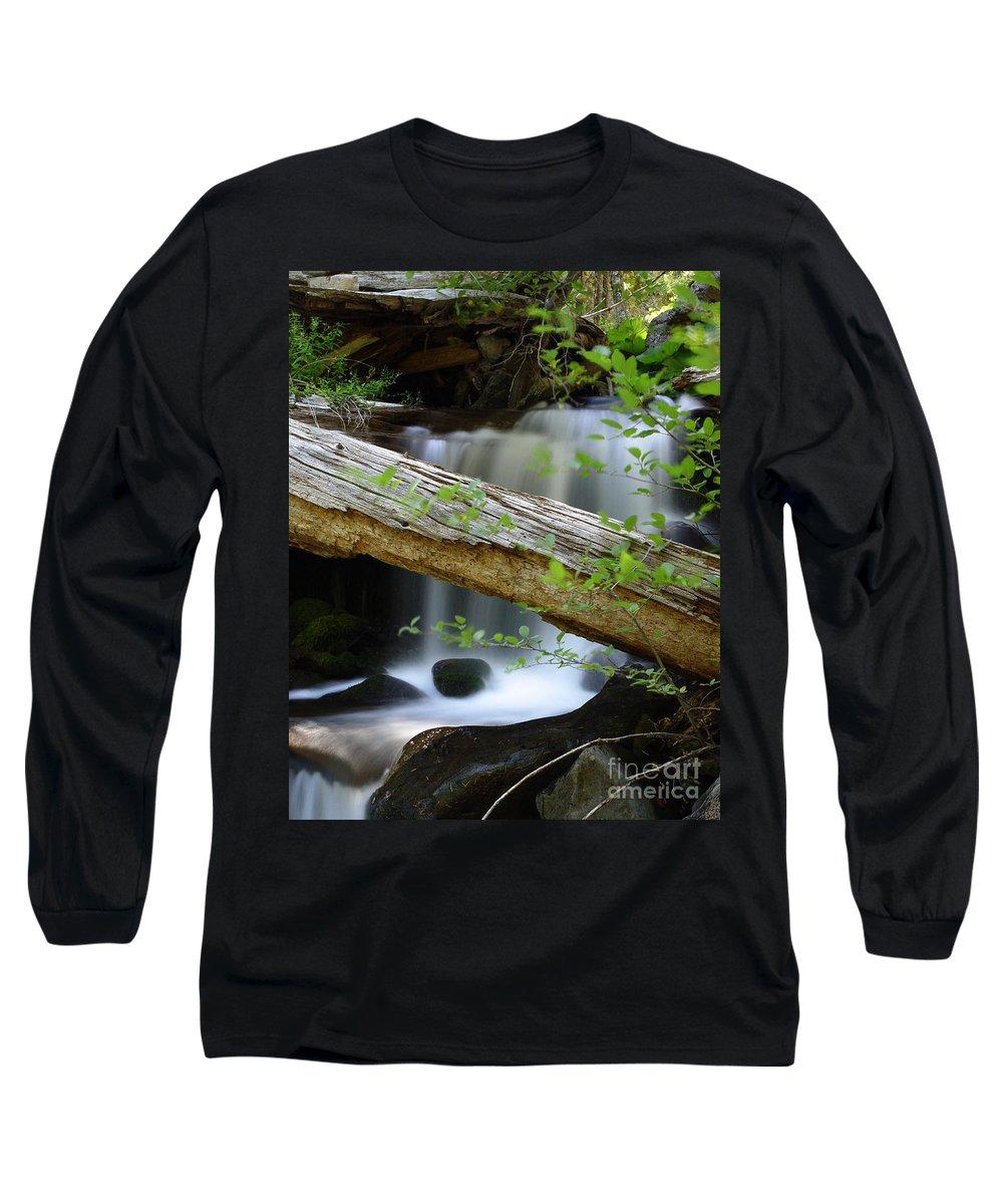 Creek Long Sleeve T-Shirt featuring the photograph Deer Creek 13 by Peter Piatt