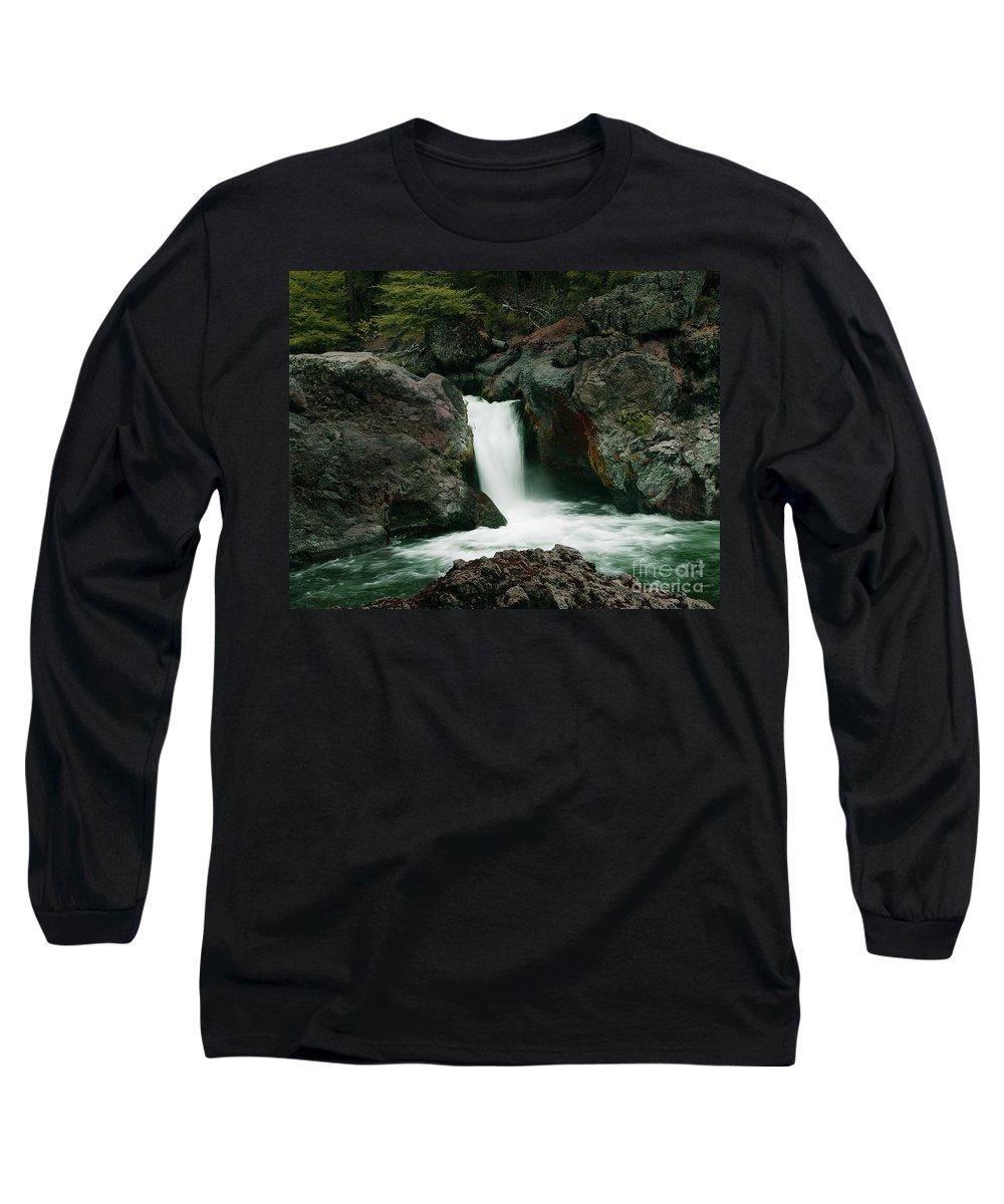 Creek Long Sleeve T-Shirt featuring the photograph Deer Creek Falls by Peter Piatt