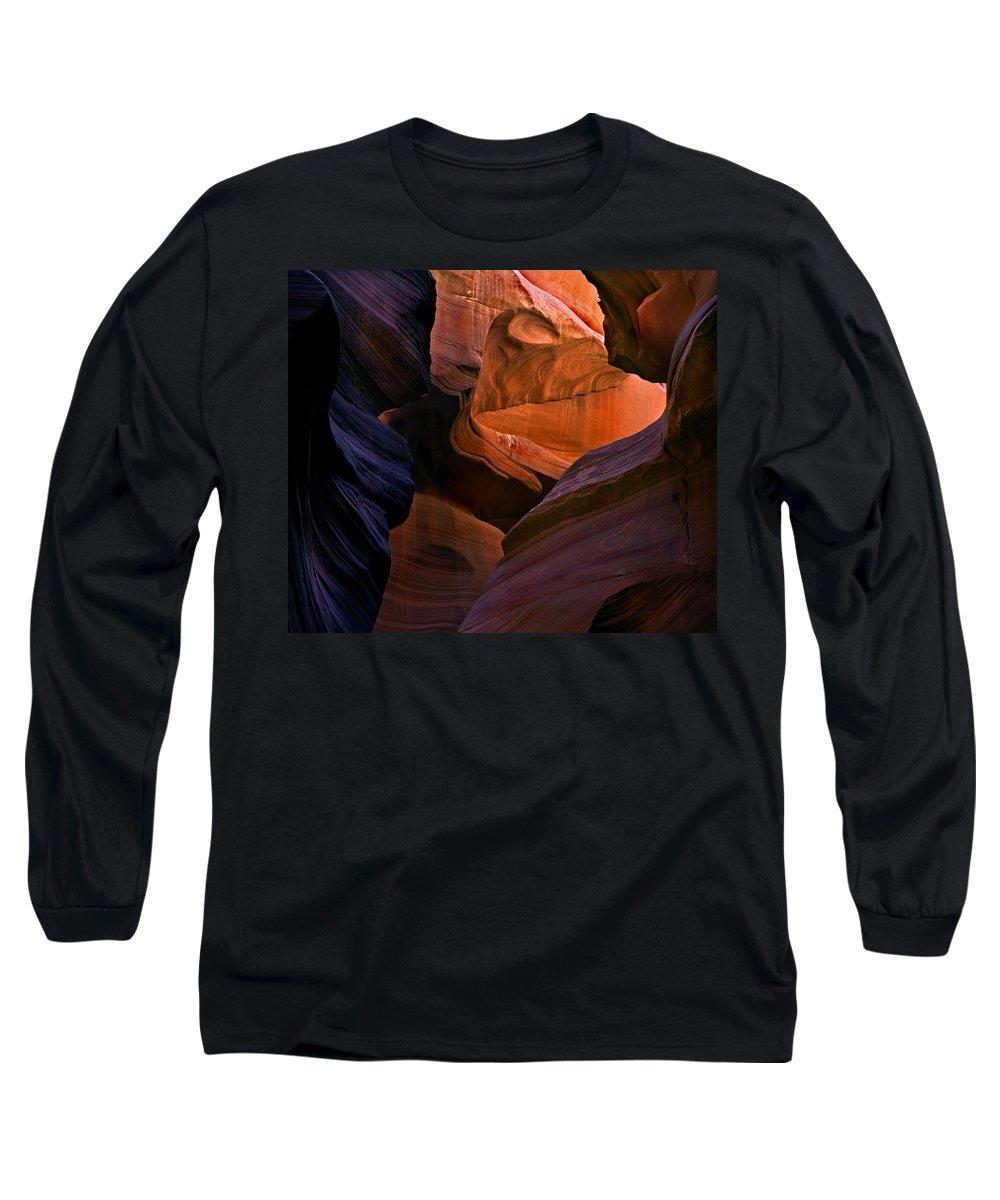 Sandstone Long Sleeve T-Shirt featuring the photograph Desert Bridge by Mike Dawson