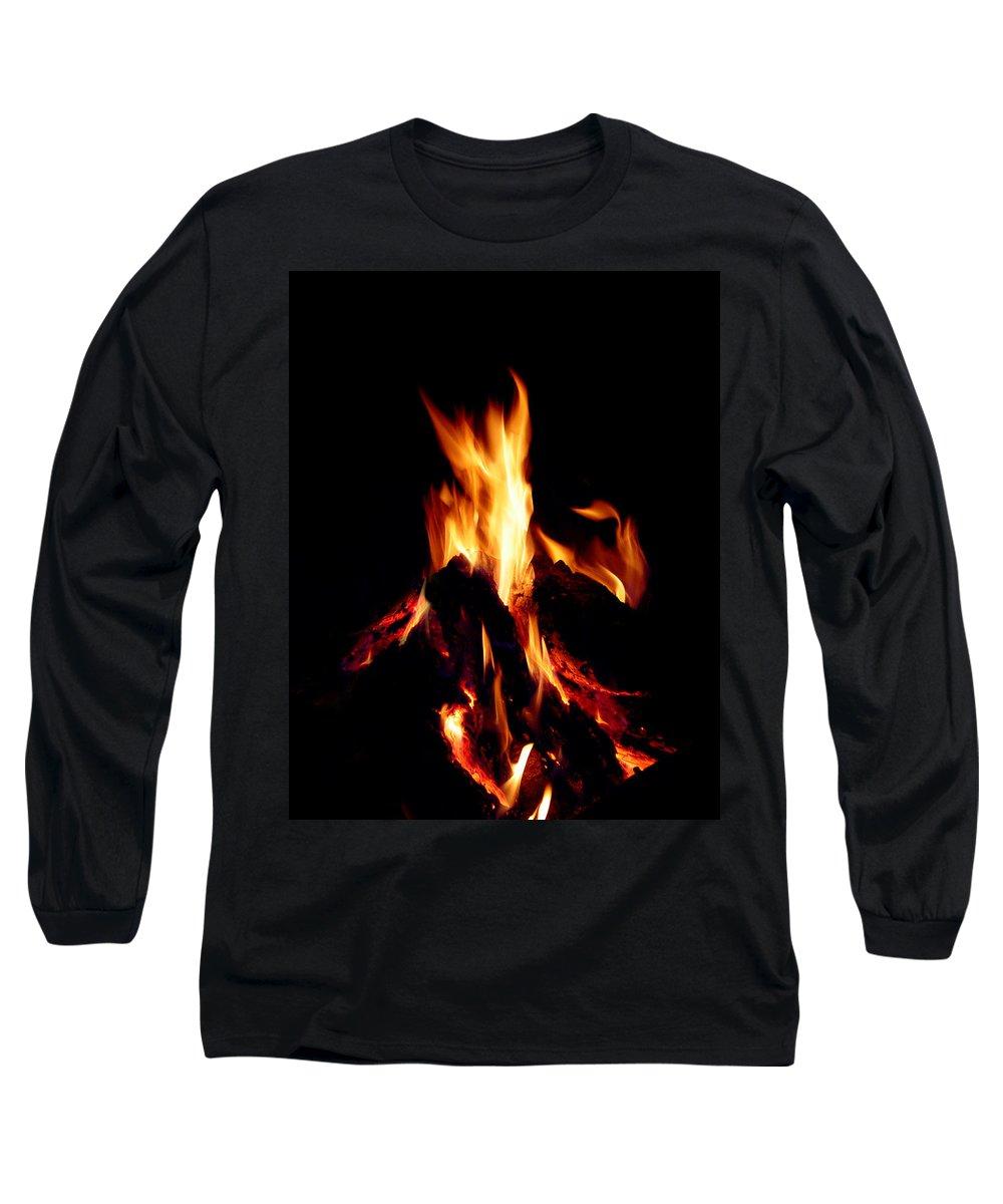 Devil Long Sleeve T-Shirt featuring the photograph Devil Fire by Peter Piatt