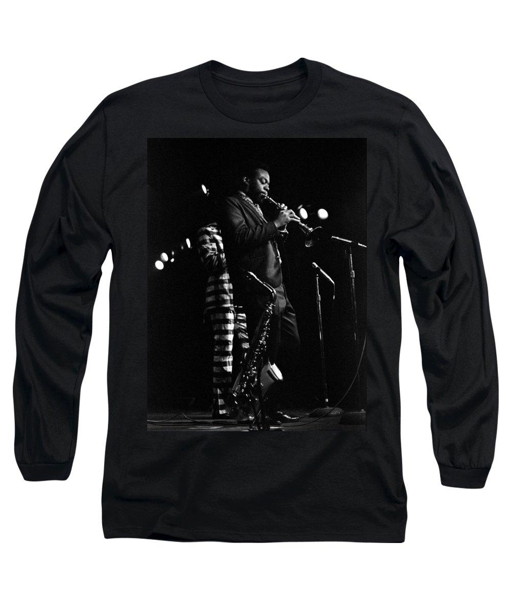 Dewey Redman Long Sleeve T-Shirt featuring the photograph Dewey Redman by Lee Santa