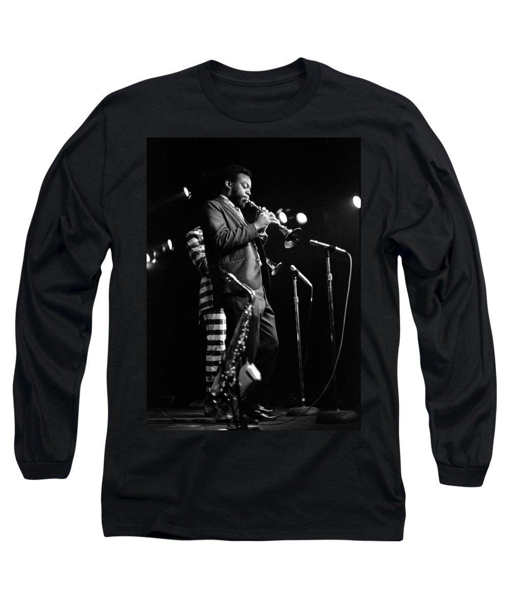 Ornette Coleman Long Sleeve T-Shirt featuring the photograph Dewey Redman On Musette by Lee Santa