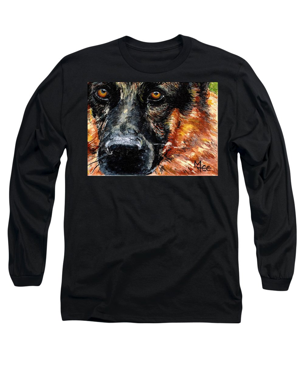 Charity Long Sleeve T-Shirt featuring the painting Dixie by Mary-Lee Sanders