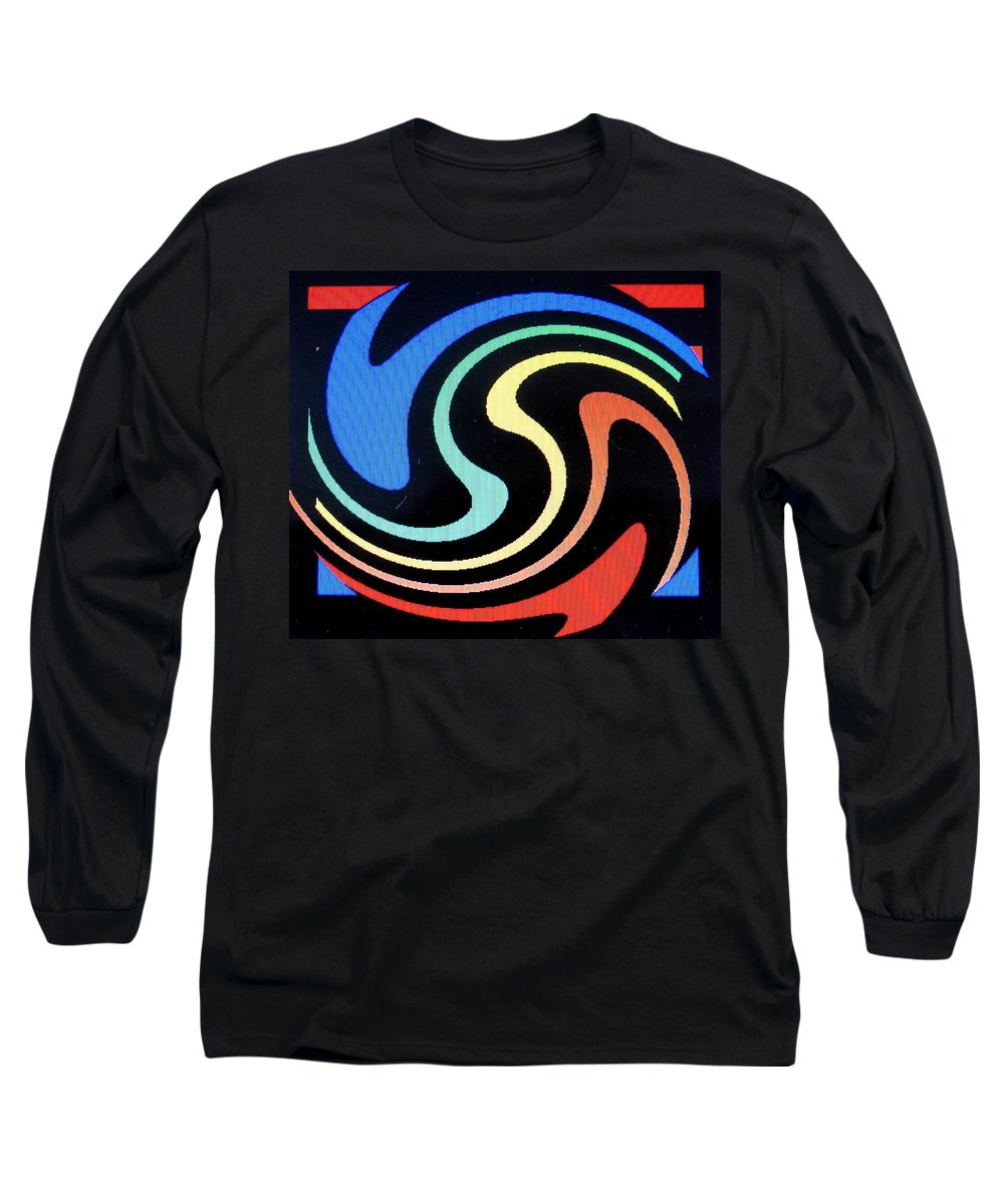 Dolphins Long Sleeve T-Shirt featuring the digital art Dolphins by Ian MacDonald