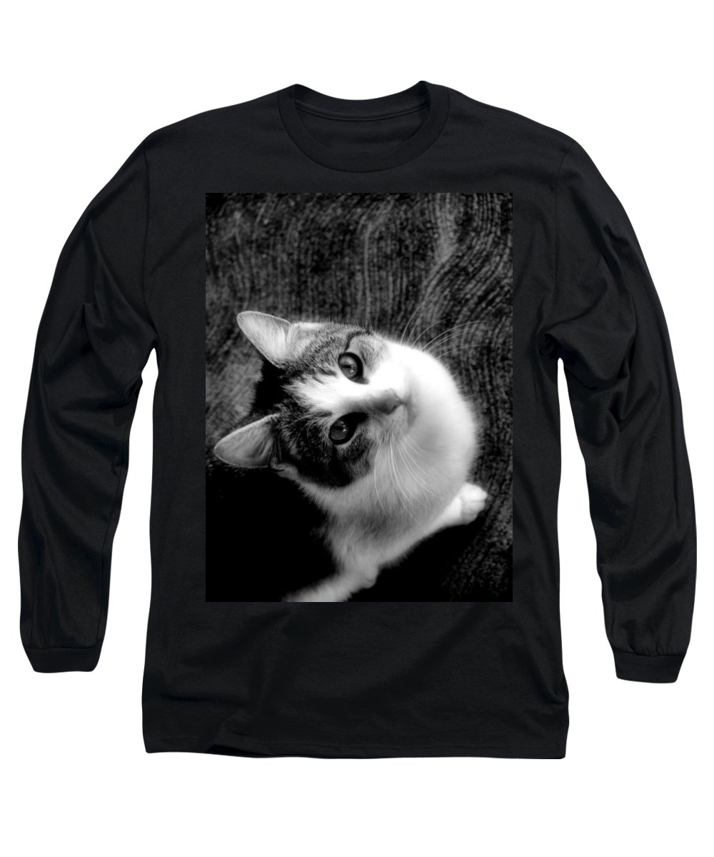 Cat Long Sleeve T-Shirt featuring the photograph Don't Ever Leave by Gaby Swanson