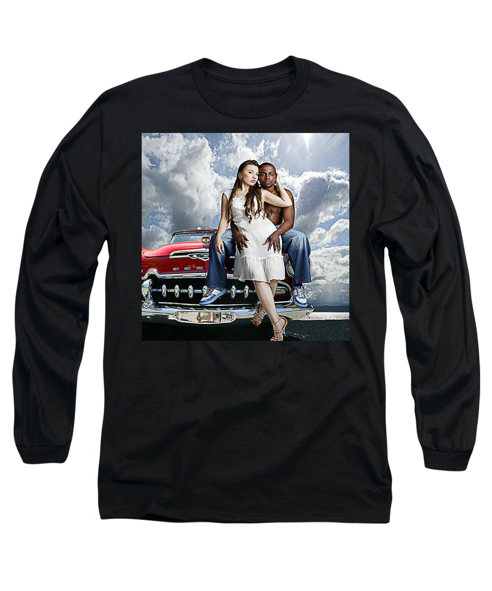 Auto Long Sleeve T-Shirt featuring the photograph Downtown by Jeff Burgess