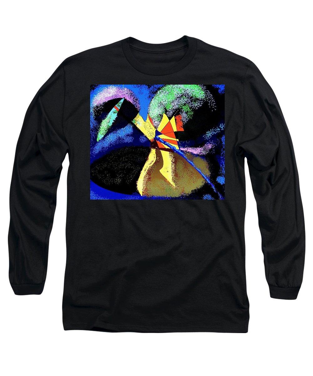 Digital Drawing Long Sleeve T-Shirt featuring the digital art Dragon Killer by Ian MacDonald