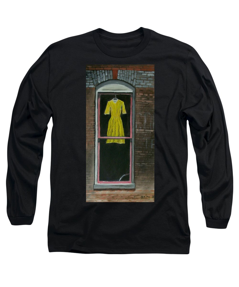 Original Long Sleeve T-Shirt featuring the painting Dress Up by Stephen King