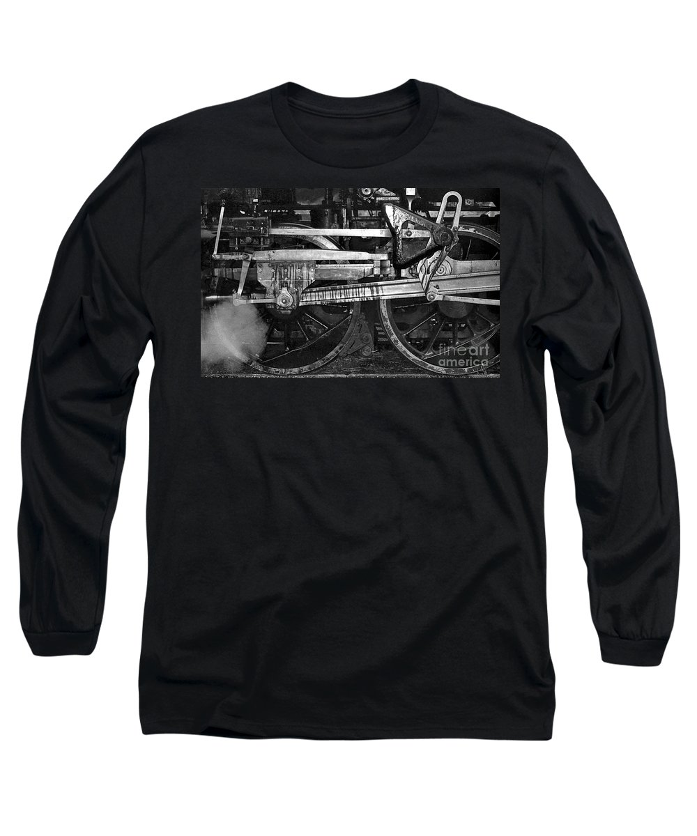 Trains Long Sleeve T-Shirt featuring the photograph Driving Wheels by Richard Rizzo