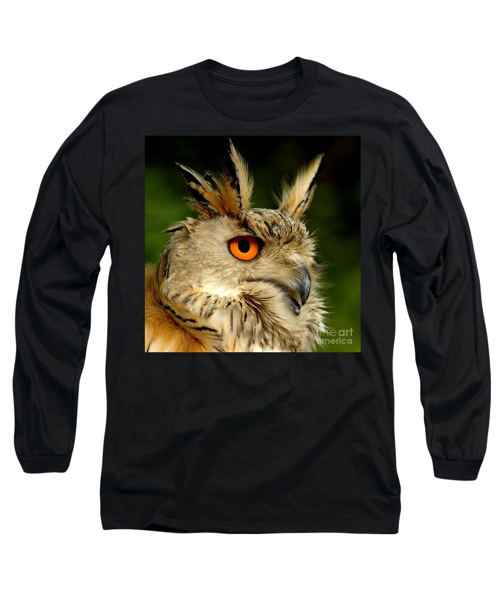 Wildlife Long Sleeve T-Shirt featuring the photograph Eagle Owl by Jacky Gerritsen