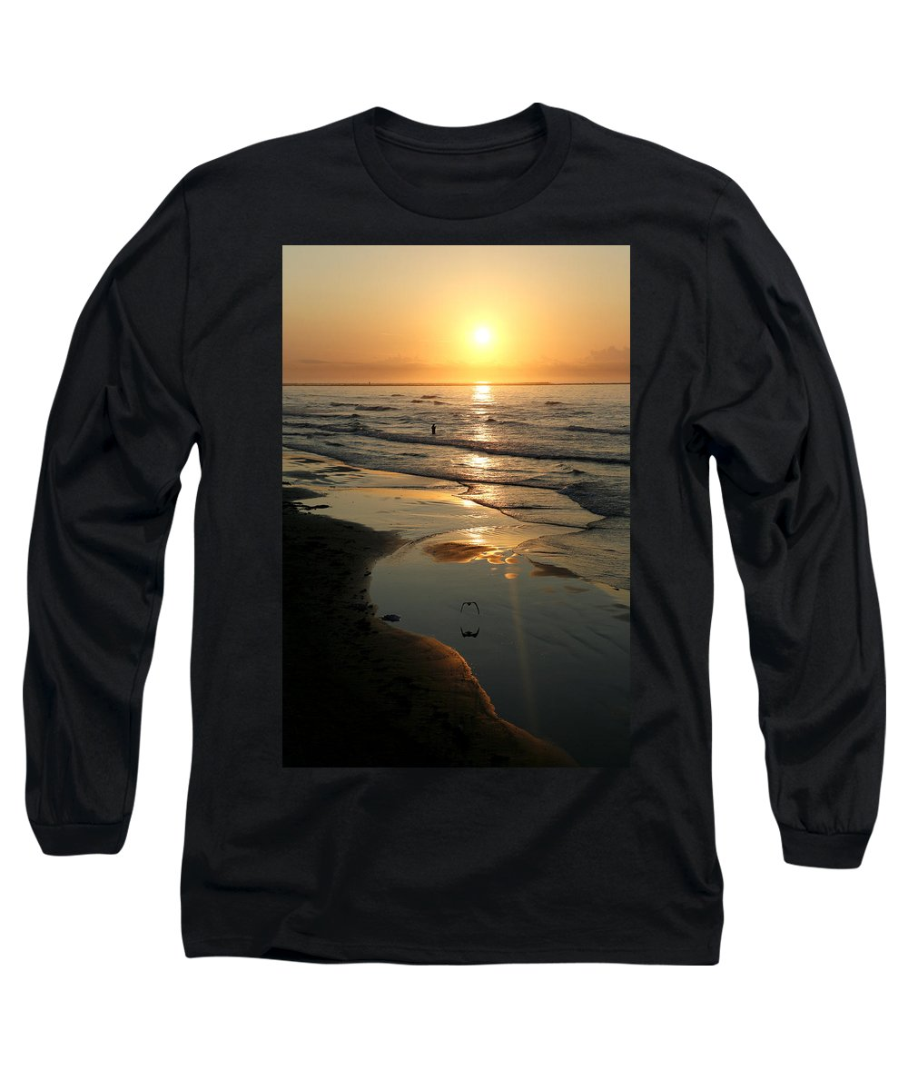Water Long Sleeve T-Shirt featuring the photograph Early Morning Fishing by Marilyn Hunt