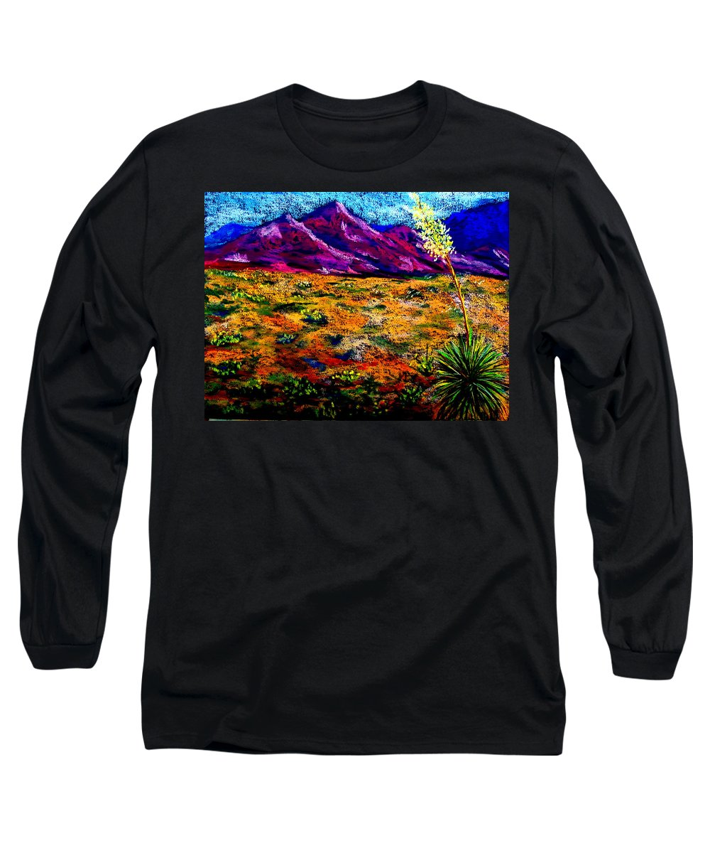 Yucca Long Sleeve T-Shirt featuring the painting El Paso by Melinda Etzold