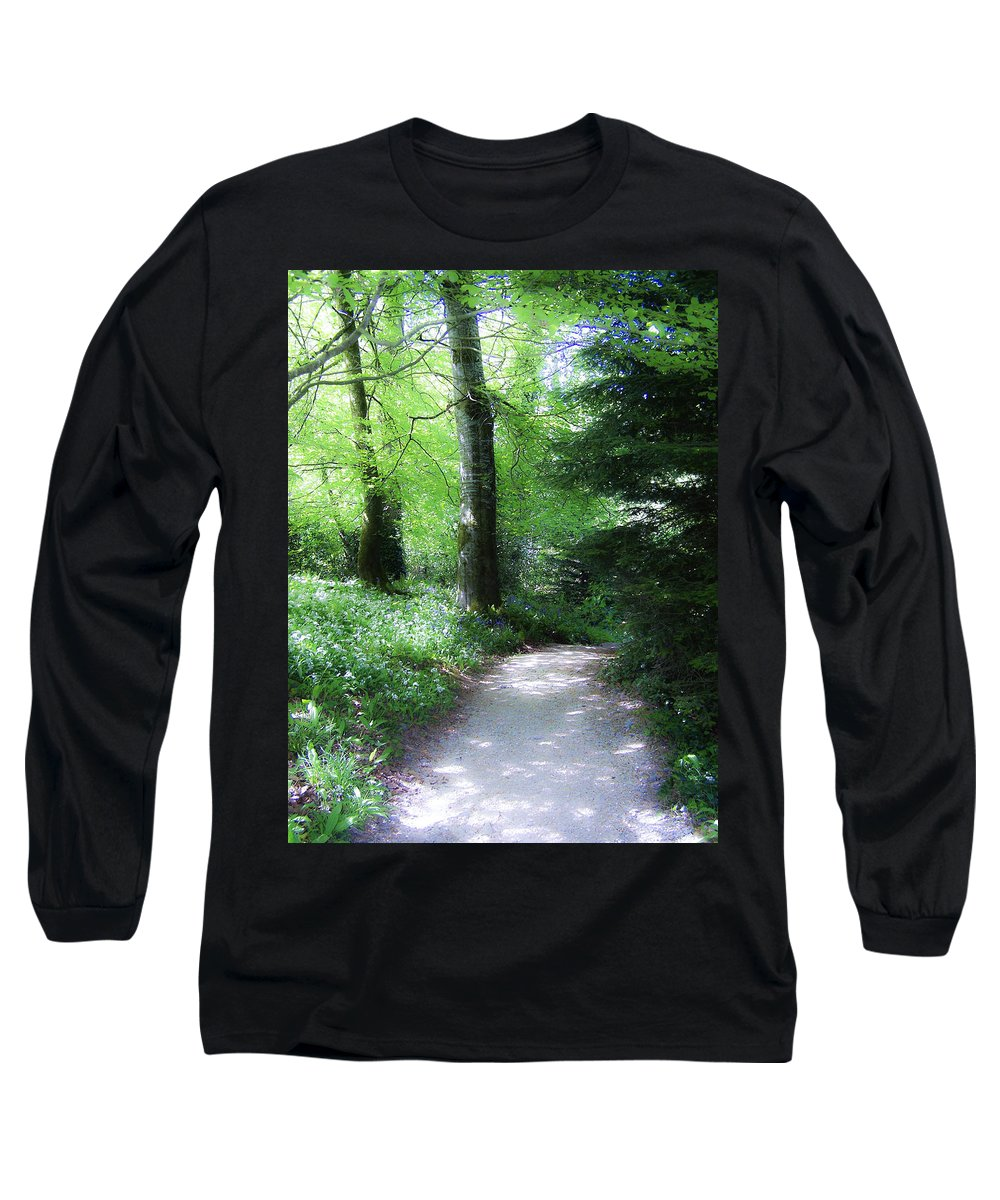 Ireland Long Sleeve T-Shirt featuring the photograph Enchanted Forest At Blarney Castle Ireland by Teresa Mucha