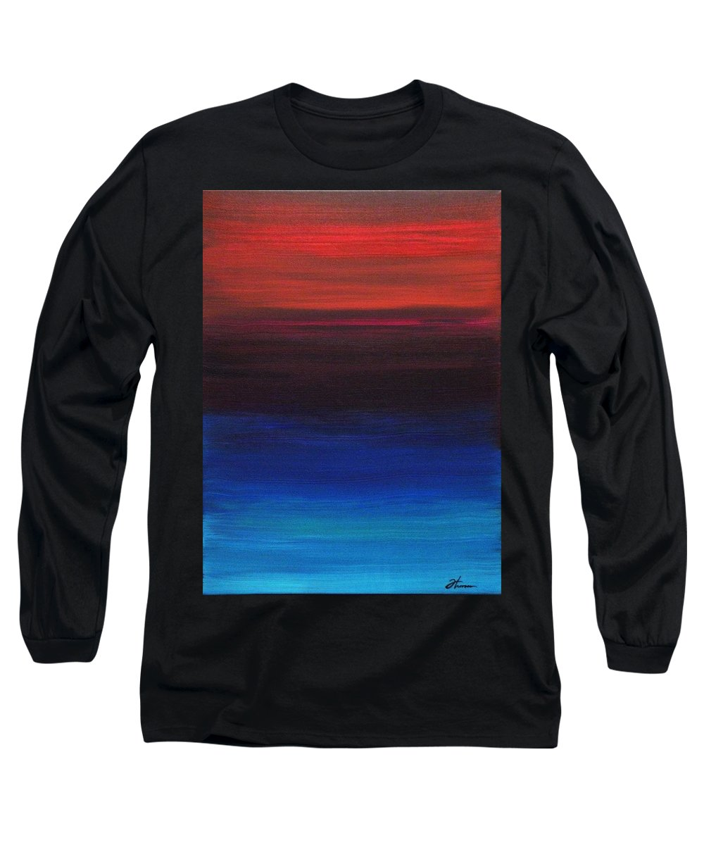 Original Long Sleeve T-Shirt featuring the painting Endless by Todd Hoover