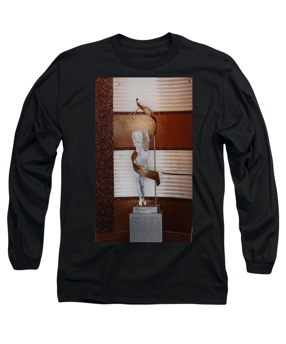 Statue Long Sleeve T-Shirt featuring the photograph Erotic Museum Piece by Rob Hans