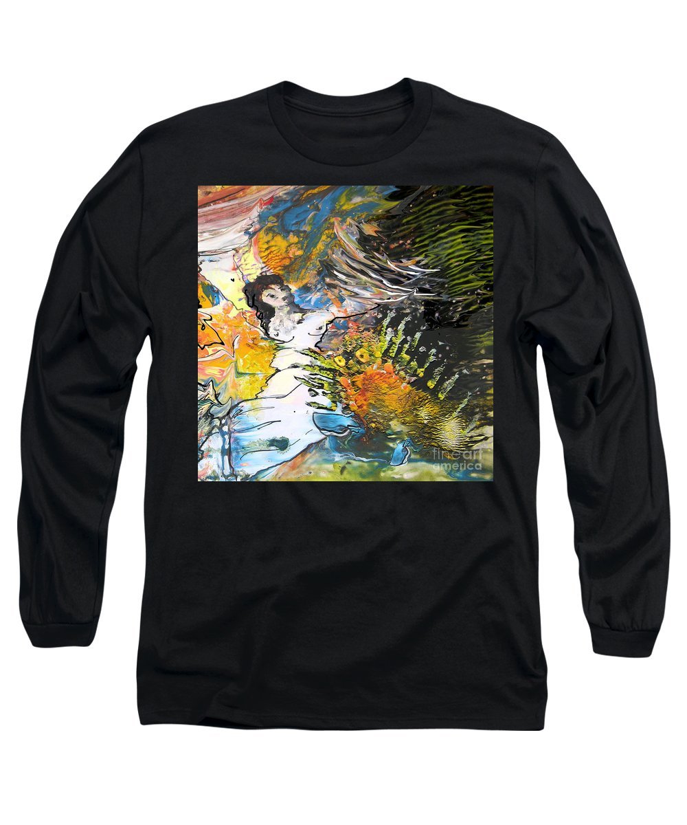 Miki Long Sleeve T-Shirt featuring the painting Erotype 07 2 by Miki De Goodaboom