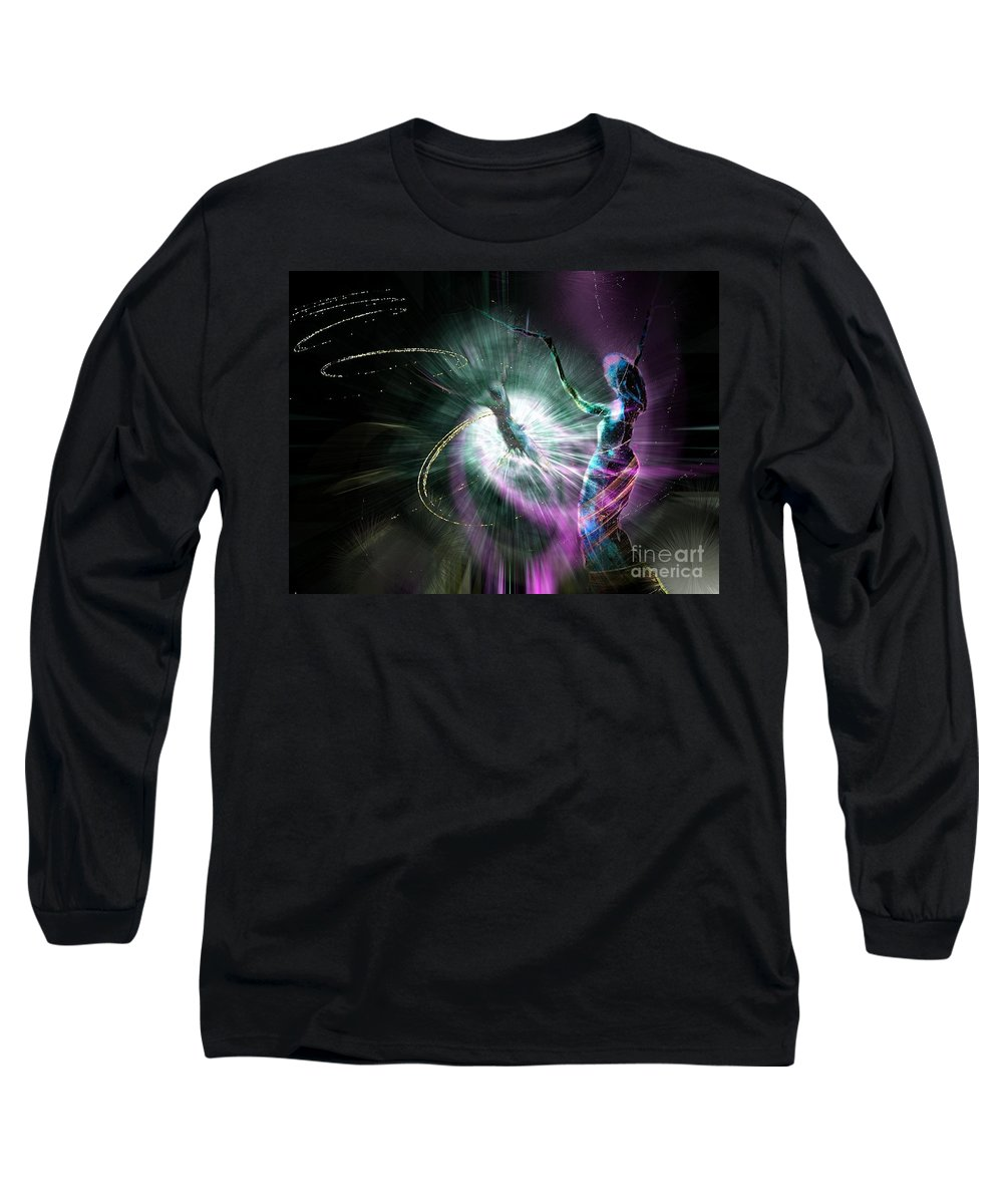 Nature Painting Long Sleeve T-Shirt featuring the painting Eternel Feminin 02 by Miki De Goodaboom