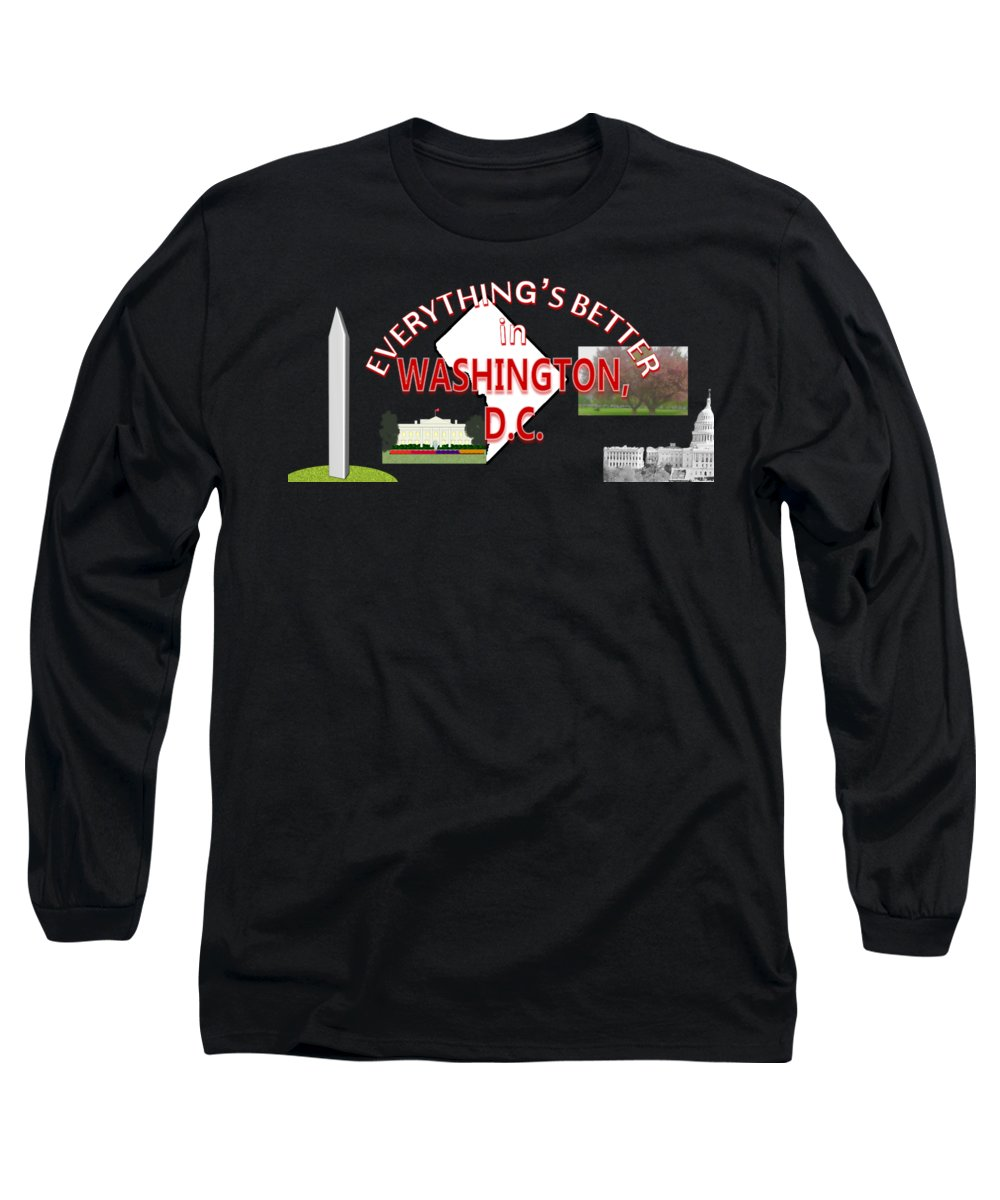 Washington D.c Long Sleeve T-Shirts