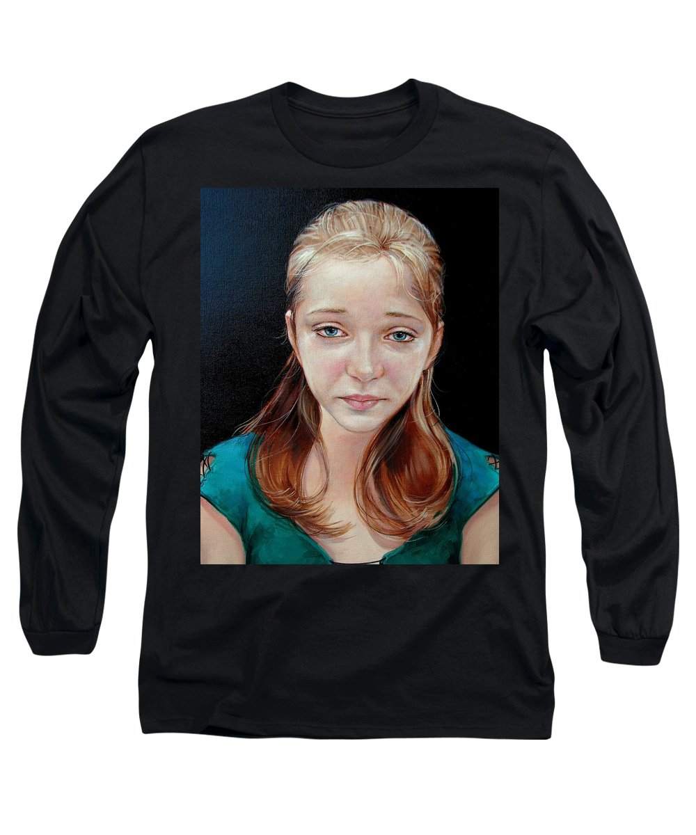 Sadness Long Sleeve T-Shirt featuring the painting Experience Of Loss 2004 by Jerrold Carton