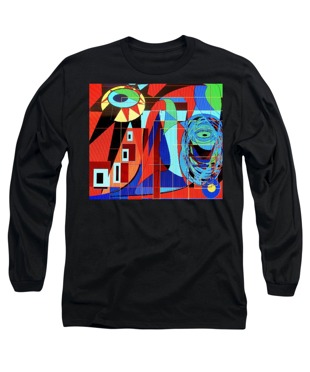 Eye Long Sleeve T-Shirt featuring the digital art Eye Of The Tiger by Ian MacDonald