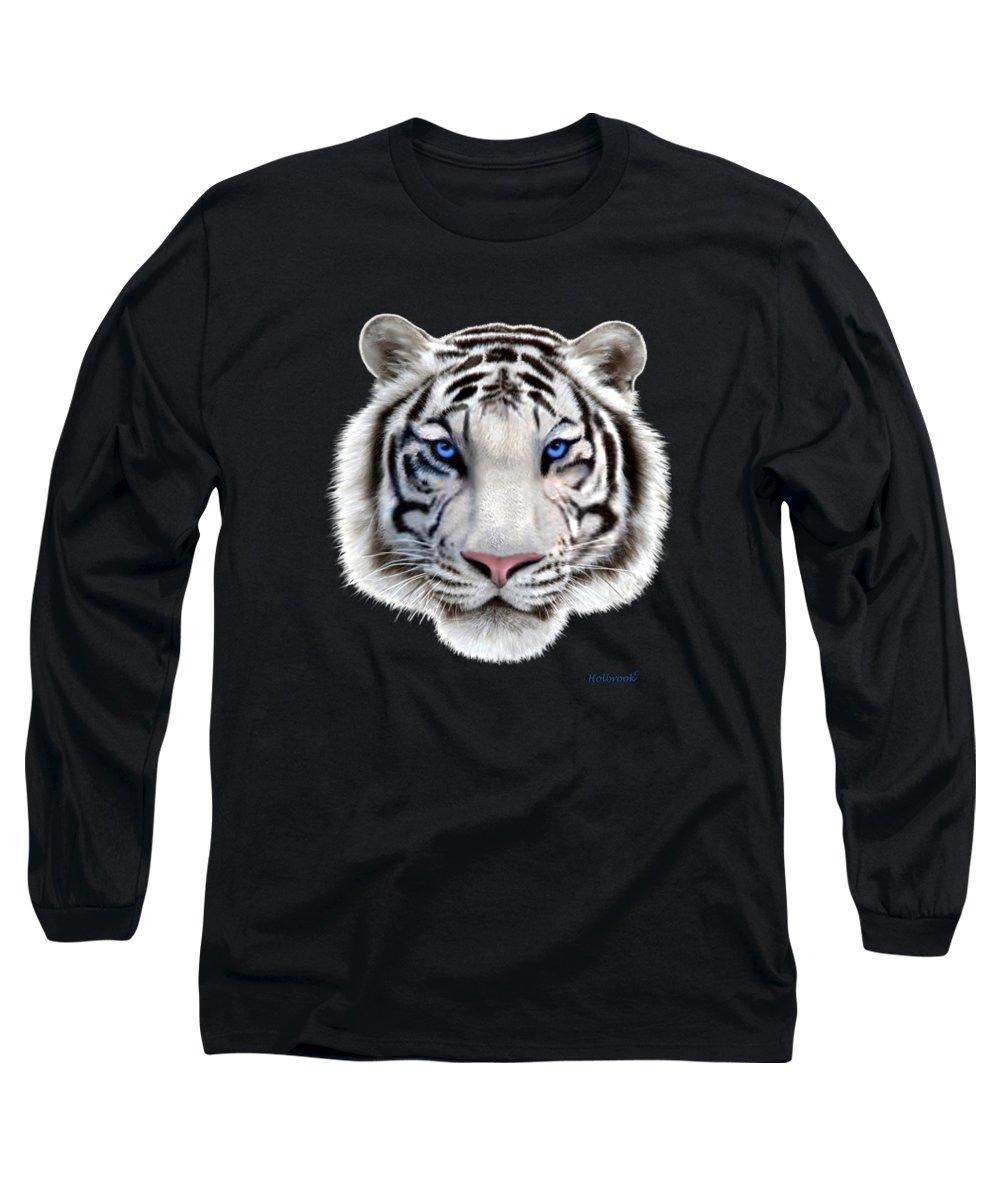 Siberian Tiger Digital Art Long Sleeve T-Shirts