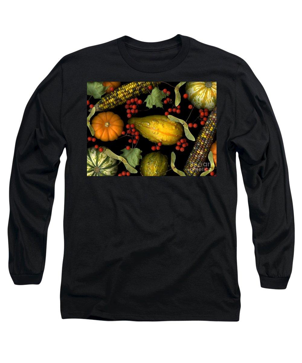 Slanec Long Sleeve T-Shirt featuring the photograph Fall Harvest by Christian Slanec