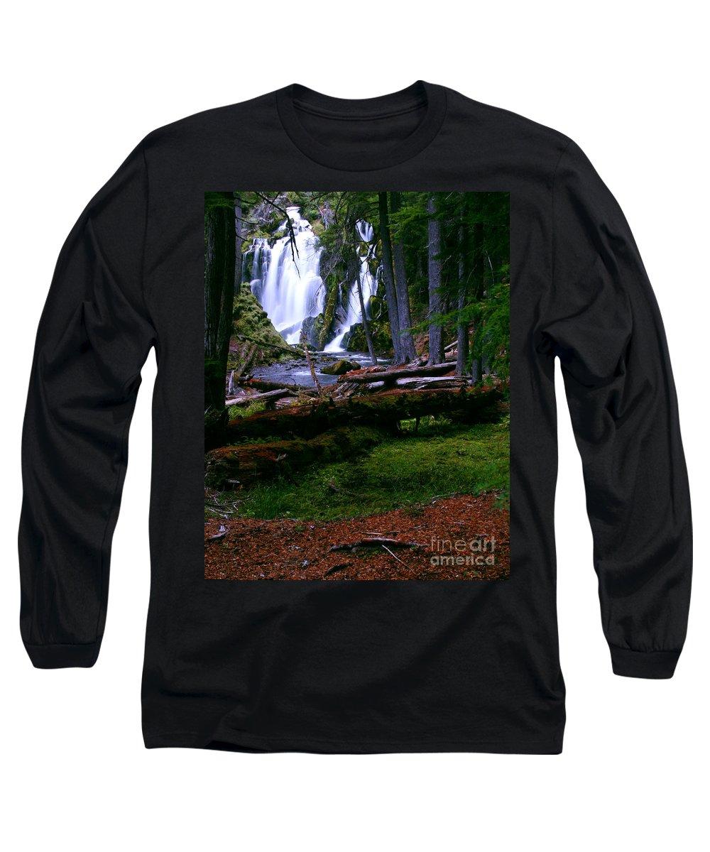 Waterfall Long Sleeve T-Shirt featuring the photograph Fall Through by Peter Piatt
