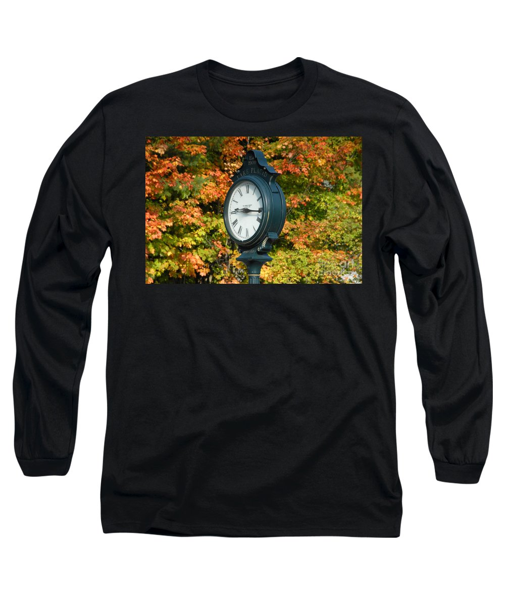 Lake Placid New York Long Sleeve T-Shirt featuring the photograph Fall Time by David Lee Thompson