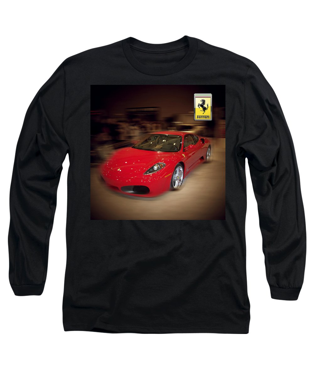 �auto Corner� Collection By Serge Averbukh Long Sleeve T-Shirt featuring the photograph Ferrari F430 - The Red Beast by Serge Averbukh
